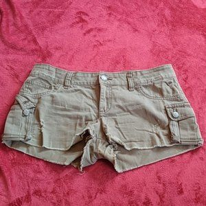 Grane Green Cargo Shorts